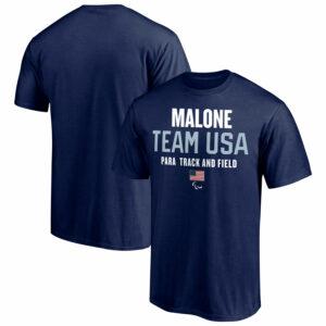 Dark blue tshirt from Team USA official merchandise, mens short sleeve shirt product display