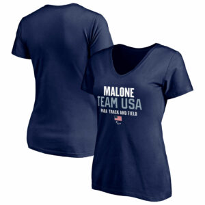 Dark blue tshirt from Team USA official merchandise, women's short sleeve shirt product display